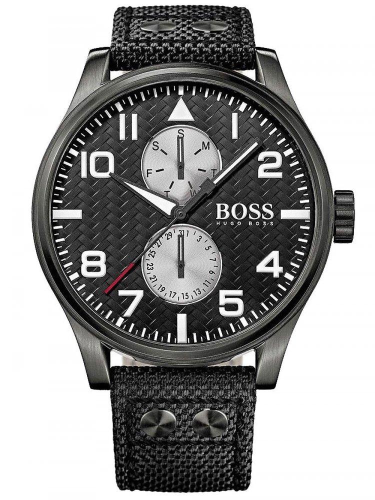 Pánské hodinky Hugo Boss 1513086 Aeroliner Multifunktion grey 50mm 5ATM